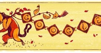 Tết nguyên đán 2016 google đã gởi lời chúc mừng năm mới đến toàn thể dân tộc Việt Nam qua Doodle hình con khỉ 2